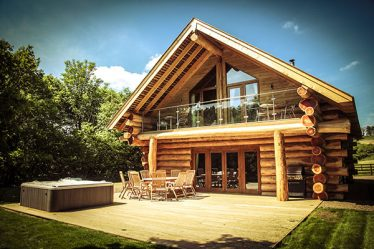 luxury log cabins with hot tubs lake district