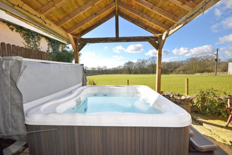lodges with hot tubs that allow dogs