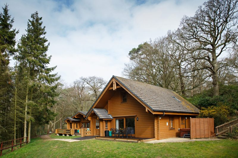 log cabins and Lodges with Hot Tubs