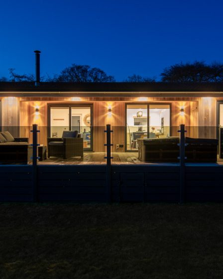 log cabins with hot tubs in st andrews